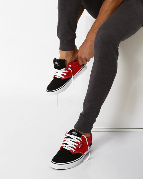 2-Tone Atwood Casual Shoes By Vans ( Red )