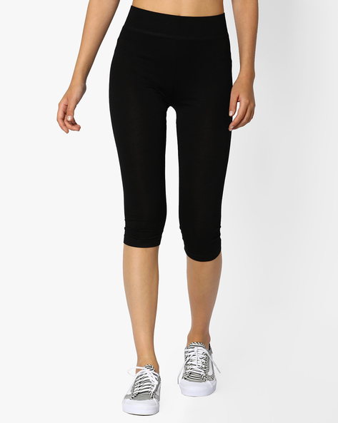 Capris With Elasticated Waistband By CODE By Lifestyle ( Black )