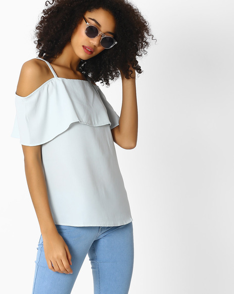 Off-Shoulder Pop-Over Top By Femella ( Aquablue )