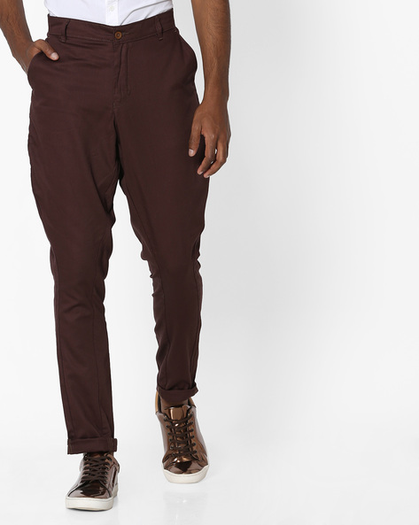 Cotton Jodphuri Pants With Insert Pockets By MR.BUTTON ( Wine )