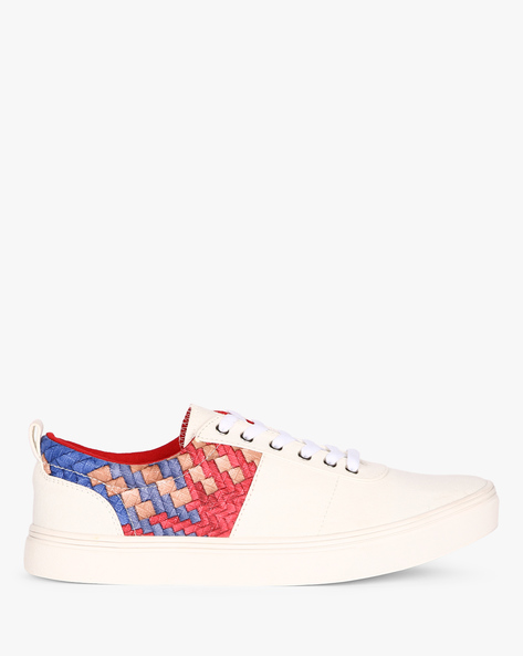 Low-Top Sneakers With Printed Panel By Nuboy ( White )