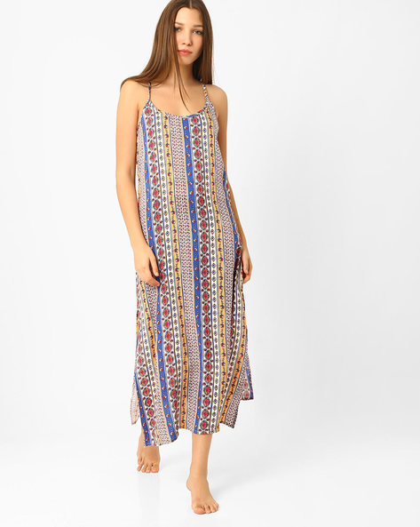 Printed Lounge Dress By Heart 2 Heart ( Red )