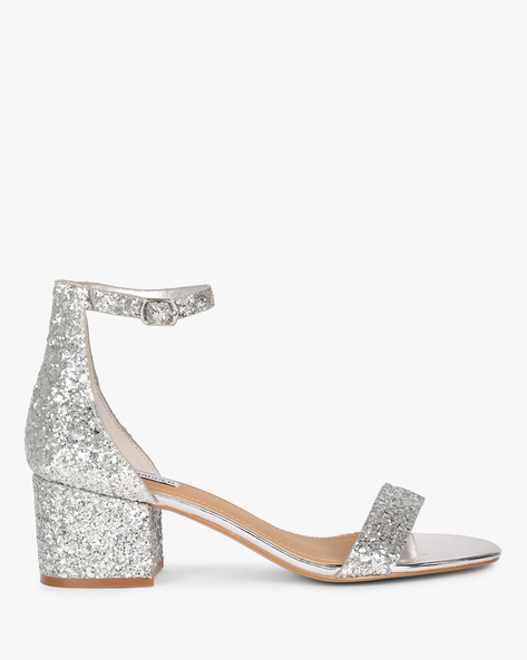 Chunky Heeled Sandals With Ankle Strap By STEVE MADDEN ( 742 )
