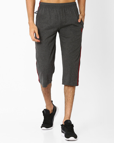 Cotton 3/4th Lounge Pants By Playboy ( Charcoal )