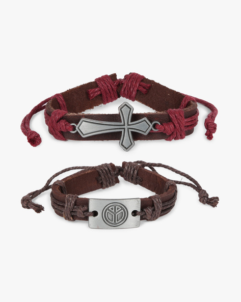 Pack Of 2 Bracelets By ALPHA MAN ( Maroon ) - 460134365001