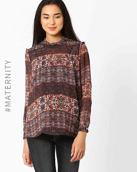 Printed Maternity Top By Oxolloxo ( Multi ) - 460033112006