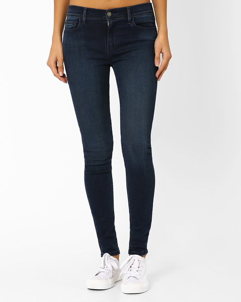 710 Lightly Washed Skinny Jeans By LEVIS ( Blue )