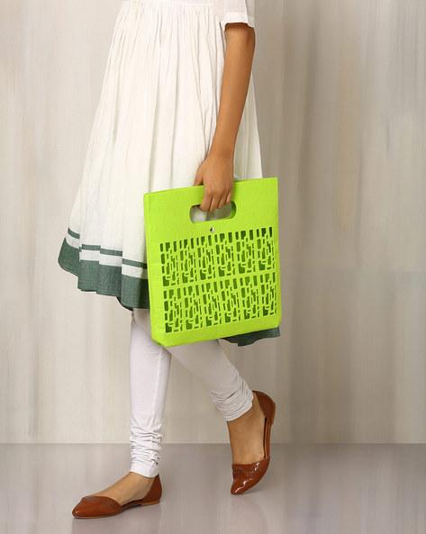Felt Handbag With Cutwork By Indie Picks ( Blue )