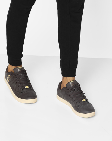 Toe-Cap Lace-Up Casual Shoes By SPARX ( Brown )