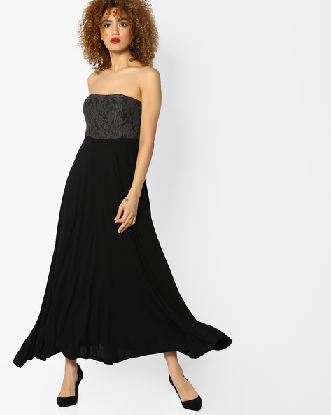Off-Shoulder Maxi Dress By CODE By Lifestyle ( Black )