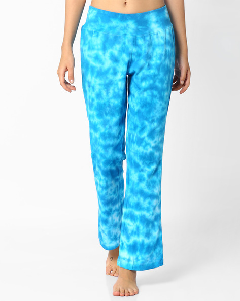 Printed Mid-Rise Track Pants By AJIO ( Blue )