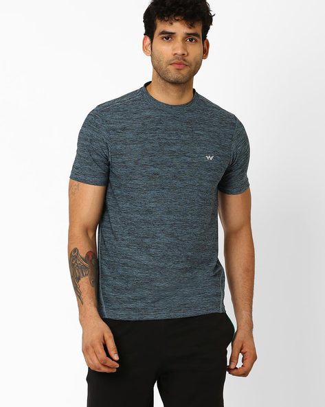 Crew-Neck T-shirt With HypaCool Technology By Wildcraft ( Blue )
