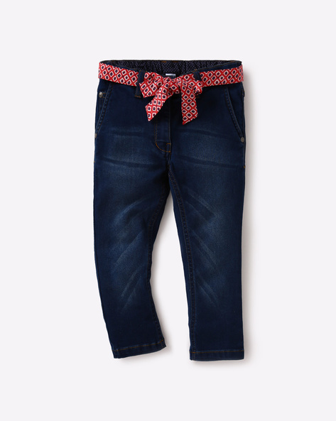3/4th Pants With Waist Tie-Up By USPA ( Blue )