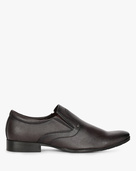 Textured Slip-On Formal Shoes By SAN FRISSCO ( Tan ) - 460117363009
