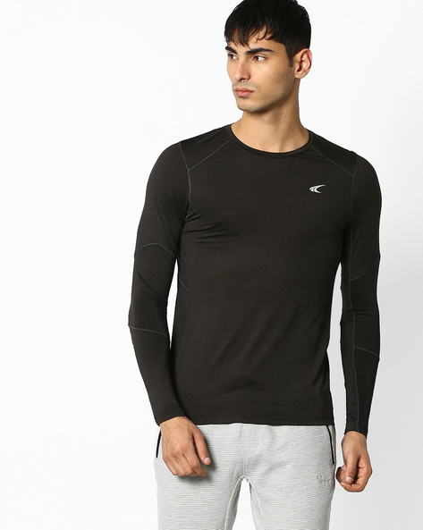 Training Quick Dry Base Layer T-shirt By PERFORMAX ( Black )