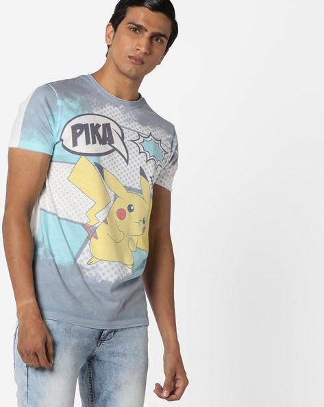 Pokemon Print T-shirt By Jack & Jones ( Grey )