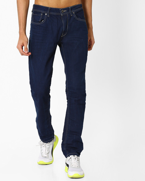 Mid-Rise Skinny Jeans By VOI JEANS ( Darkblue ) - 460048342003