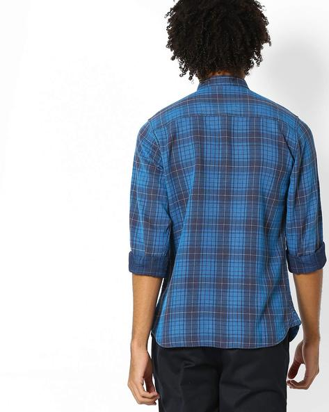 Cotton Checked Shirt By Pepe Jeans ( Teal )