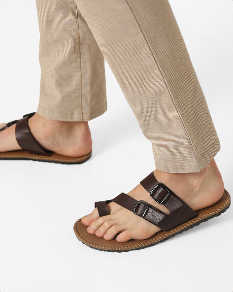 Sandals With Buckle Closures By Funk ( Darkbrown )
