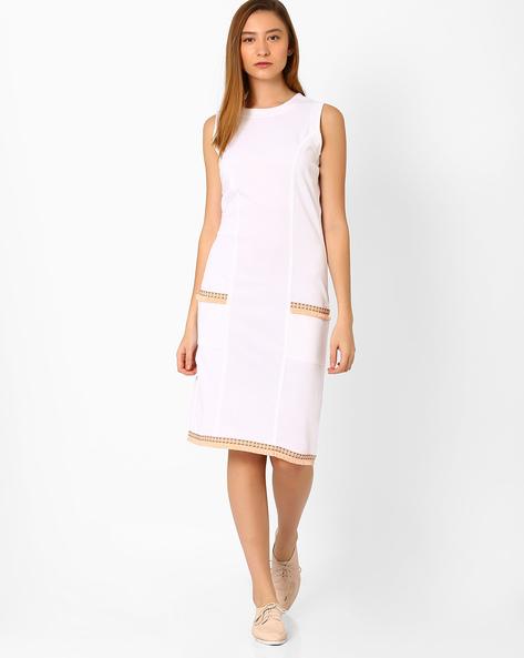 Bodycon Dress With Princess Seam By Vajor ( White )