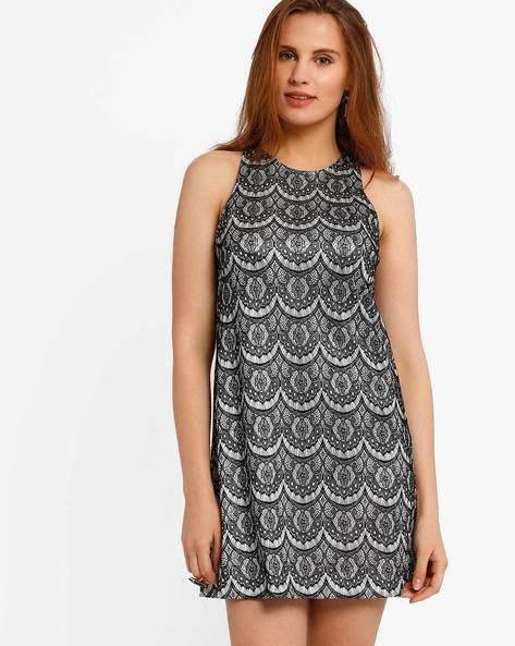 Lace Shift Dress By CHM ( Black )
