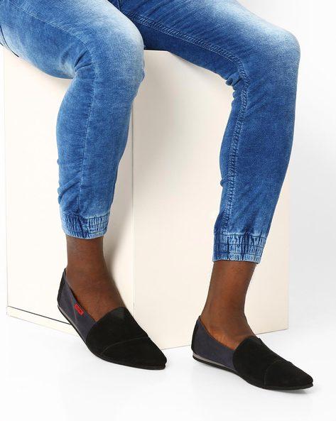 Colourblock Slip-On Shoes By Funk ( Black )