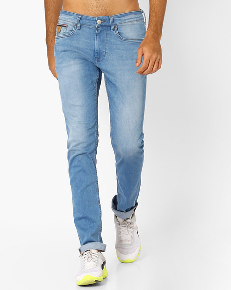 Slim Fit Lightly Washed Jeans By US POLO ( Assorted )