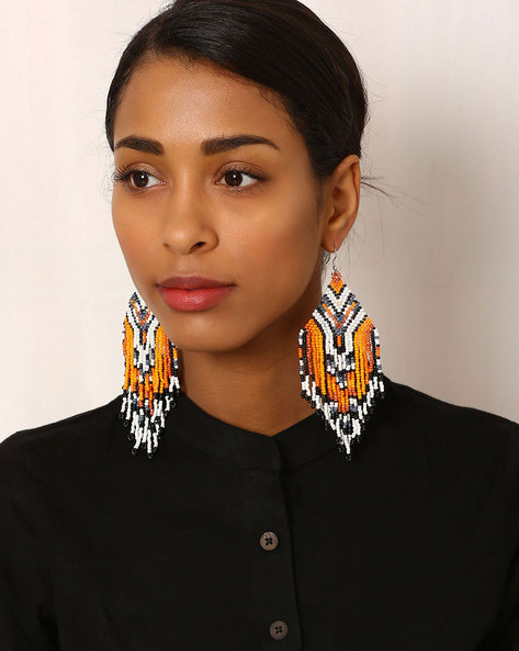 Beaded Drop-Earrings By Indie Picks ( Multi ) - 460042543001