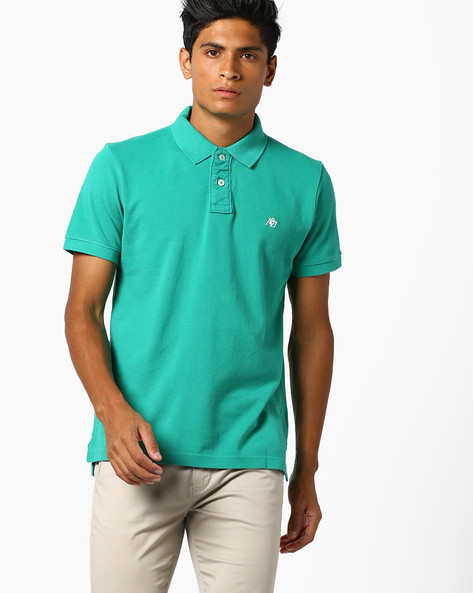 Polo T-shirt With Ribbed Hems By Aeropostale ( Green )