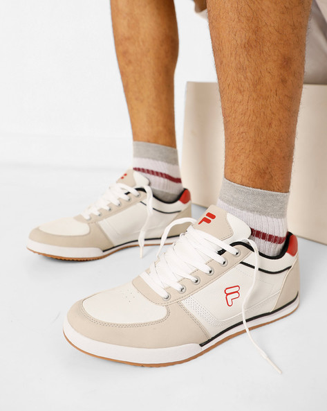 Bonnie Panelled Lace-Up Shoes By FILA ( White )