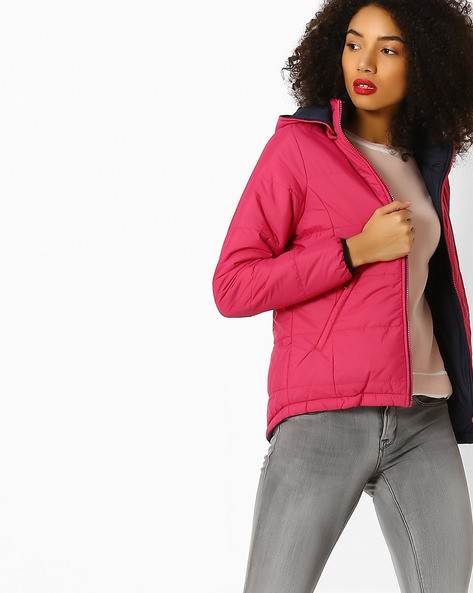 Quilted Jacket With Hood By Lee ( Pink )