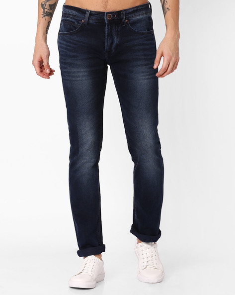 Slim Fit Jeans With Whiskers By Killer ( Darkblue )