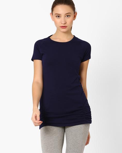 T-shirt With Raglan Sleeves By AJIO ( Navyblue )