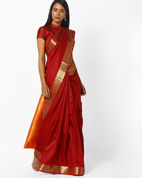 Traditional Saree With Zari Woven Design By CHHABRA 555 ( Red )