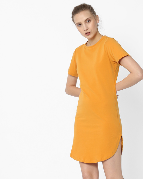 Shift Dress With Curved Hemline By ANONYMOUS CO ( Yellow )