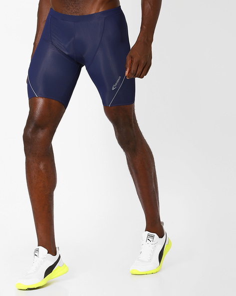 Panelled Cycling Shorts With Quick Dry By PERFORMAX ( Navy )