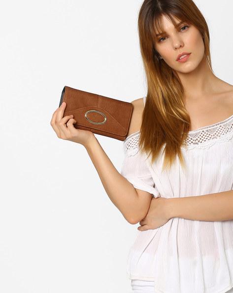 Textured Tri-Fold Wallet By E2O ( Khaki )