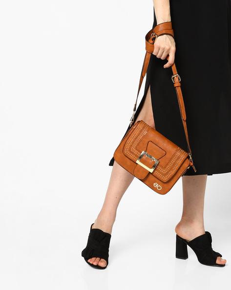 Embellished Sling Bag By E2O ( Khaki )