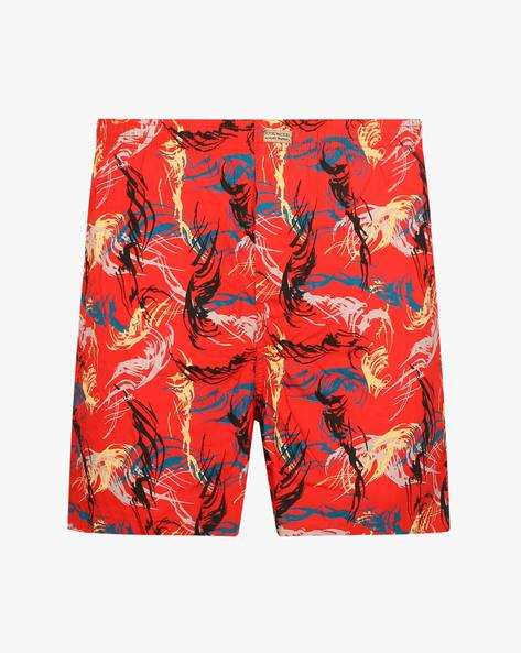 Printed Cotton Boxers By FLYING MACHINE ( Red )