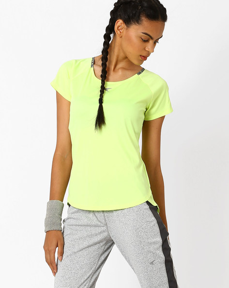 QuickDry T-shirt With Overlapping Hem By PERFORMAX ( Ltgreen )