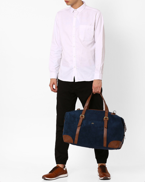 Duffel Bag With Detachable Strap By Atorse ( Navy )
