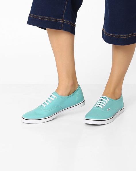 Authentic Lo Pro Canvas Casual Shoes By Vans ( Aqua )