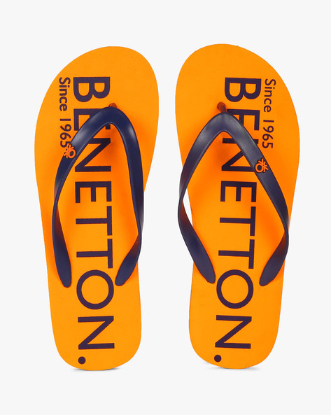 Thong-Style Flip-Flops By UNITED COLORS OF BENETTON ( Orange )