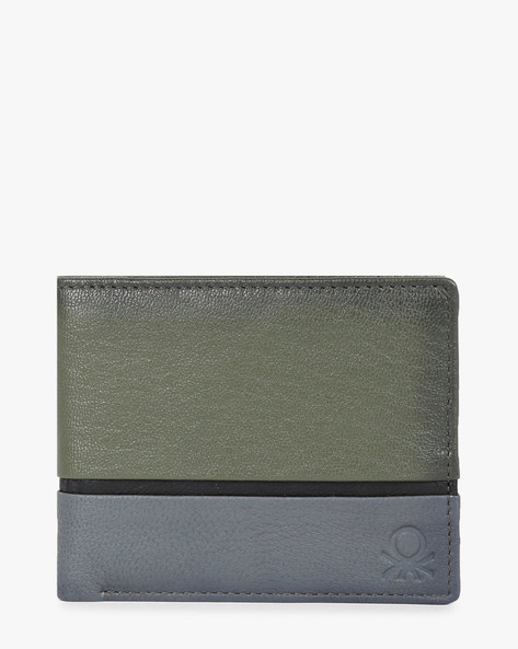 Colourblock Bi-Fold Wallet By UNITED COLORS OF BENETTON ( Olive )