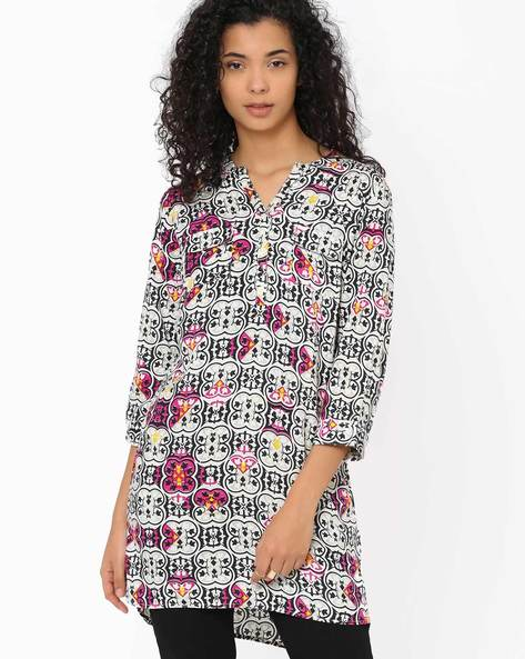 High-Low Tunic By Izabel London By Pantaloons ( Grey )