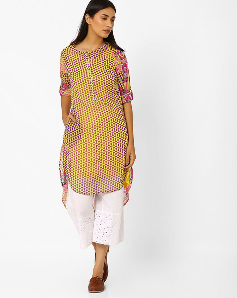 Printed High-Low Tunic By FUSION ( Purple )