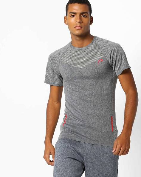 Performance T-shirt With Mesh Panels By PROLINE ( Charcoal )