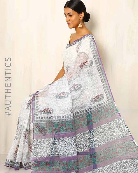 Hand Block Printed Kota Saree By Indie Picks ( Multi ) - 460016463001