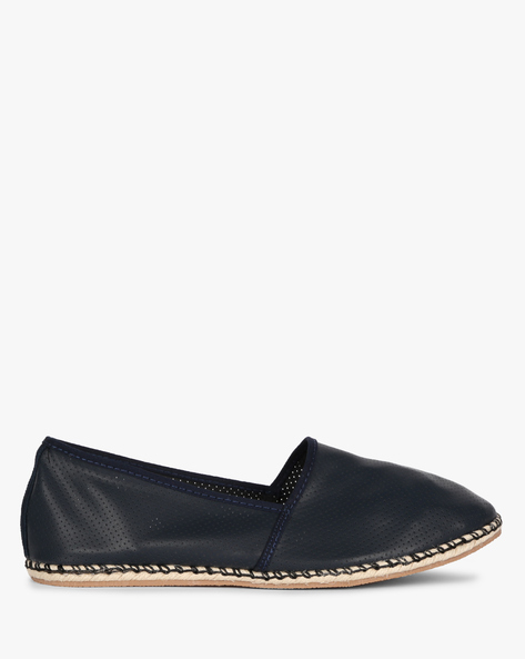 Panelled Espadrilles With Perforated Upper By AJIO ( Navy )
