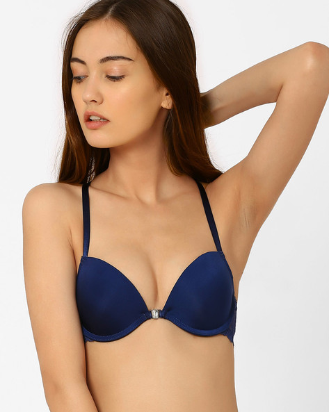Push-Up Bra With Lace Detail By PrettySecrets ( Blue )
